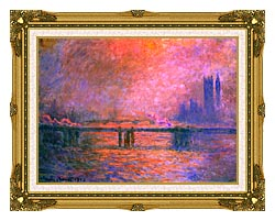 Claude Monet Charing Cross Bridge La Tamise 1903 canvas with museum ornate gold frame