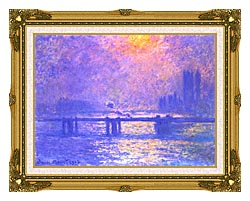 Claude Monet Charing Cross Bridge La Tamise canvas with museum ornate gold frame