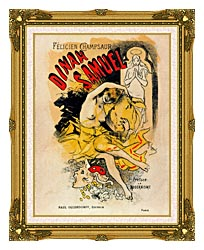 Jules Cheret Cover For Felicien Champsaurs Dinah Samuel canvas with museum ornate gold frame