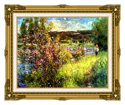 Pierre Auguste Renoir The Seine At Chatou canvas with museum ornate gold frame
