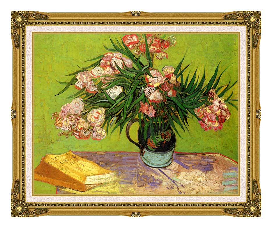 Vincent van Gogh Majolica Jar with Branches of Oleander with Museum Ornate Frame w/Liner