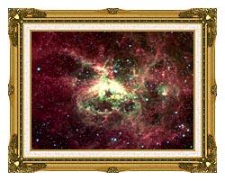 Courtesy Nasa Jpl Caltech 30 Doradus Newborn Stars Of Tarantula Nebula canvas with museum ornate gold frame