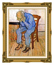 Vincent Van Gogh Old Man In Sorrow canvas with museum ornate gold frame