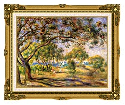 Pierre Auguste Renoir Noirmoutiers canvas with museum ornate gold frame