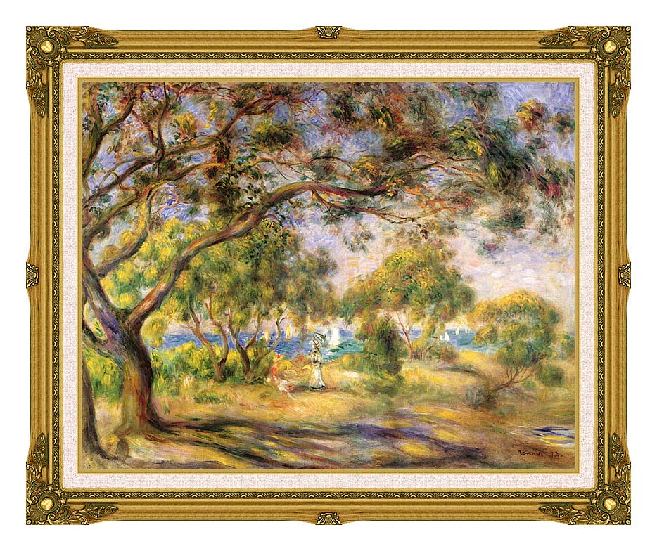 Pierre Auguste Renoir Noirmoutiers with Museum Ornate Frame w/Liner