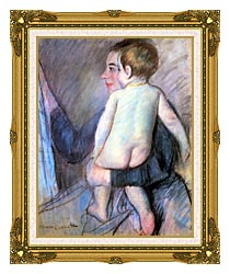 Mary Cassatt At The Window canvas with museum ornate gold frame