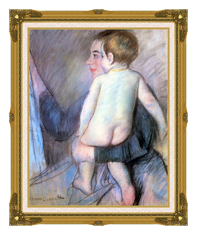 Mary Cassatt At The Window with Museum Ornate Frame w/Liner