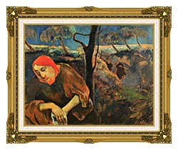 Paul Gauguin Christ In The Garden Of Olives canvas with museum ornate gold frame