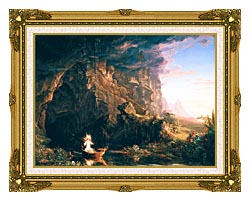Thomas Cole The Voyage Of Life Childhood canvas with museum ornate gold frame