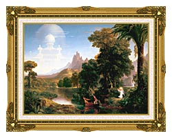 Thomas Cole The Voyage Of Life Youth canvas with museum ornate gold frame