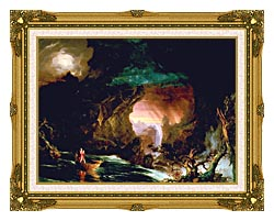 Thomas Cole The Voyage Of Life Manhood canvas with museum ornate gold frame