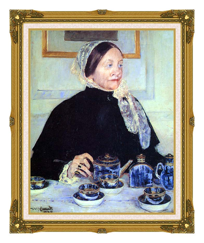 Mary Cassatt Lady at the Tea Table with Museum Ornate Frame w/Liner
