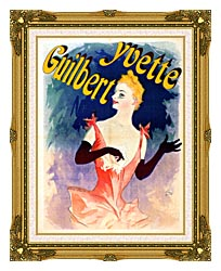 Jules Cheret Yvette Guilbert Au Concert Parisien canvas with museum ornate gold frame