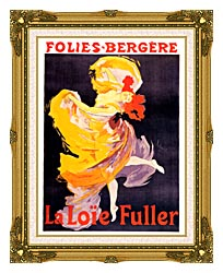 Jules Cheret Folies Bergere La Loie Fuller canvas with museum ornate gold frame