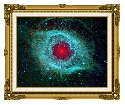 Courtesy Nasa Jpl Caltech Comets Kick Up Dust In Helix Nebula canvas with museum ornate gold frame