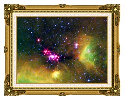 Courtesy Nasa Jpl Caltech Stars In Serpens canvas with museum ornate gold frame