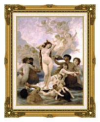 William Bouguereau The Birth Of Venus canvas with museum ornate gold frame