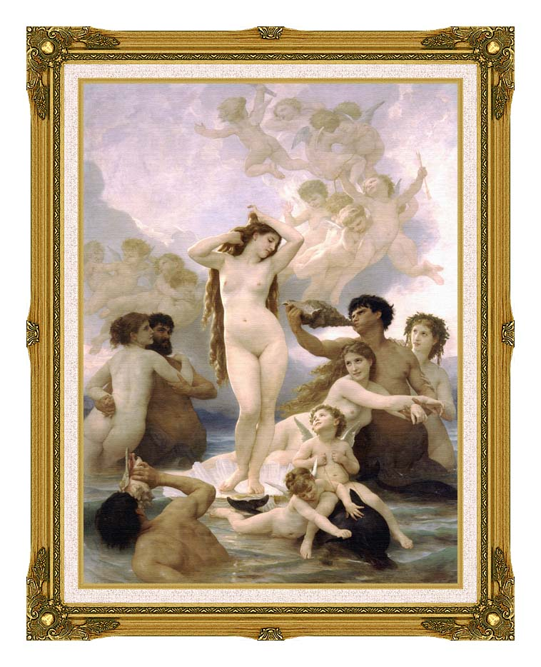 William Bouguereau The Birth of Venus with Museum Ornate Frame w/Liner
