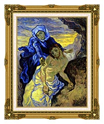 Vincent Van Gogh Pieta canvas with museum ornate gold frame