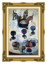 Paul Gauguin Still Life With Three Puppies canvas with museum ornate gold frame