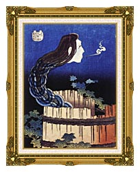 Katsushika Hokusai Okiku The Plate Specter canvas with museum ornate gold frame