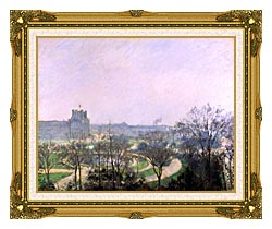 Camille Pissarro The Tuilieries Gardens canvas with museum ornate gold frame