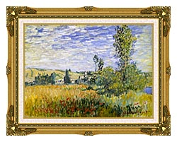 Claude Monet Vetheuil canvas with museum ornate gold frame