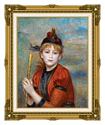 Pierre Auguste Renoir The Rambler canvas with museum ornate gold frame