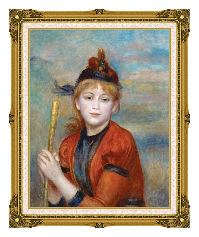 Pierre Auguste Renoir The Rambler with Museum Ornate Frame w/Liner