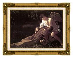 Michelangelo Merisi Da Caravaggio St Francis In Ecstasy canvas with museum ornate gold frame