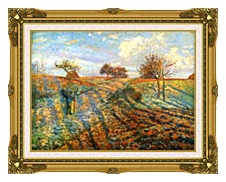 Camille Pissarro Hoarfrost canvas with museum ornate gold frame