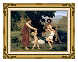 William Bouguereau Pastoral canvas with museum ornate gold frame