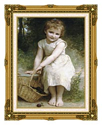 William Bouguereau Plums canvas with museum ornate gold frame