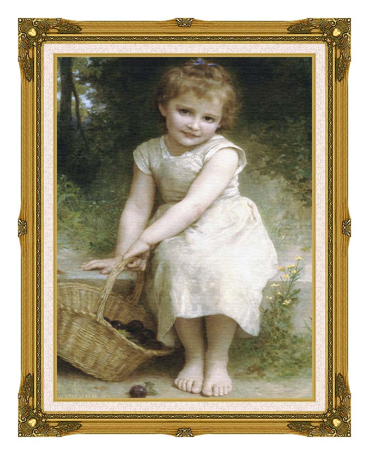 William Bouguereau Plums with Museum Ornate Frame w/Liner