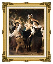William Bouguereau Return From The Harvest canvas with museum ornate gold frame