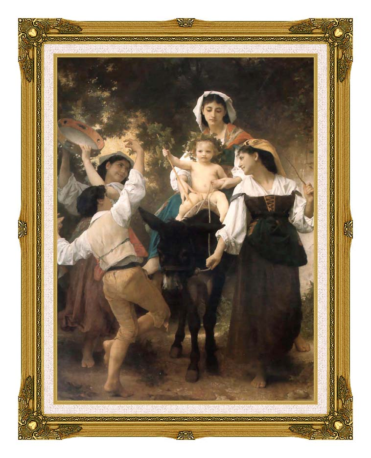 William Bouguereau Return from the Harvest with Museum Ornate Frame w/Liner