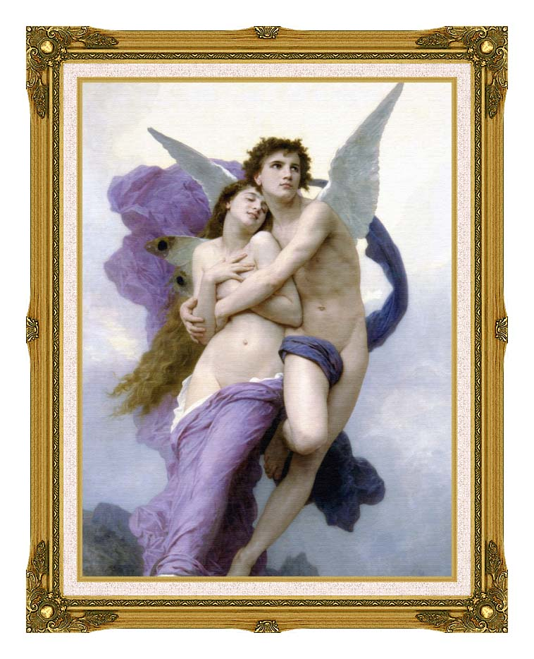 William Bouguereau The Abduction of Psyche with Museum Ornate Frame w/Liner