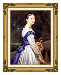 William Bouguereau The Countess De Montholon canvas with museum ornate gold frame