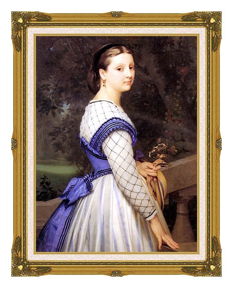 William Bouguereau The Countess de Montholon with Museum Ornate Frame w/Liner