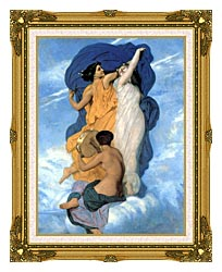 William Bouguereau The Dance canvas with museum ornate gold frame