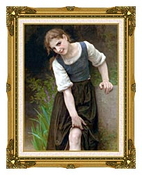 William Bouguereau The Ford canvas with museum ornate gold frame