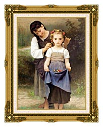 William Bouguereau The Jewel Of The Fields canvas with museum ornate gold frame