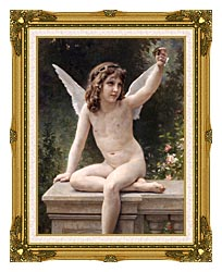 William Bouguereau The Prisoner canvas with museum ornate gold frame