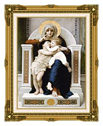 William Bouguereau The Virgin Baby Jesus And Saint John The Baptist canvas with museum ornate gold frame