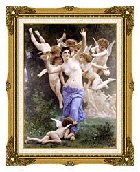 William Bouguereau The Wasps Nest canvas with museum ornate gold frame