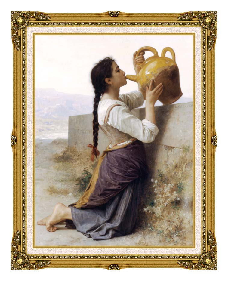 William Bouguereau Thirst with Museum Ornate Frame w/Liner