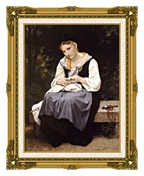 William Bouguereau Young Worker canvas with museum ornate gold frame