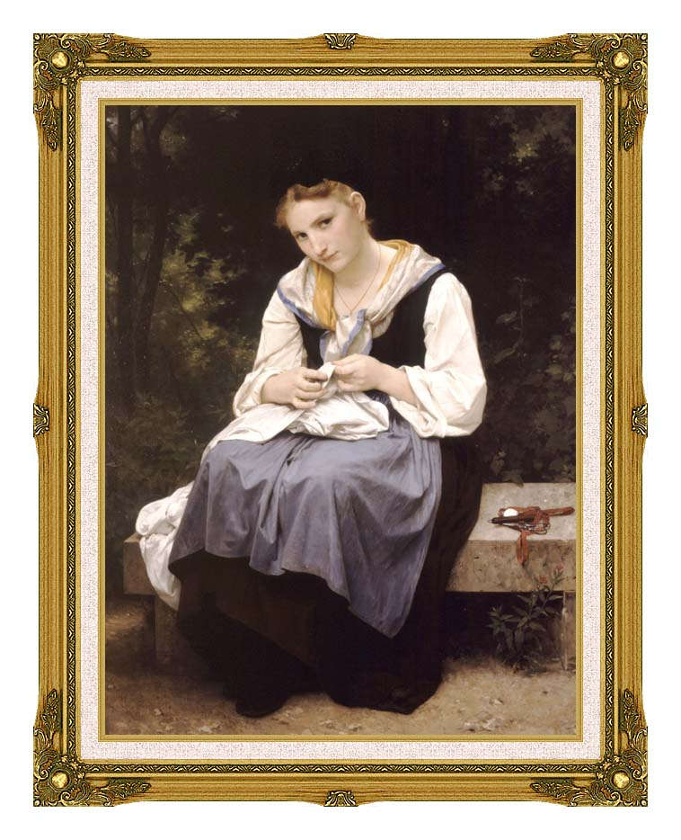 William Bouguereau Young Worker with Museum Ornate Frame w/Liner