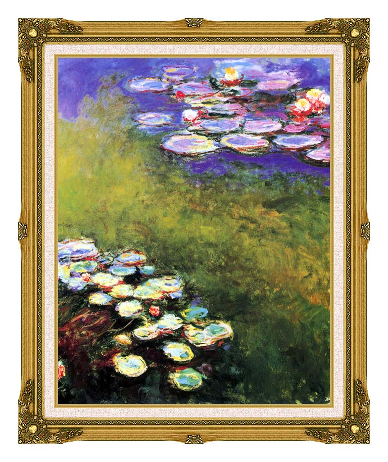 Claude Monet Monet Water Lilies with Museum Ornate Frame w/Liner