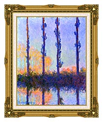 Claude Monet The Poplars canvas with museum ornate gold frame